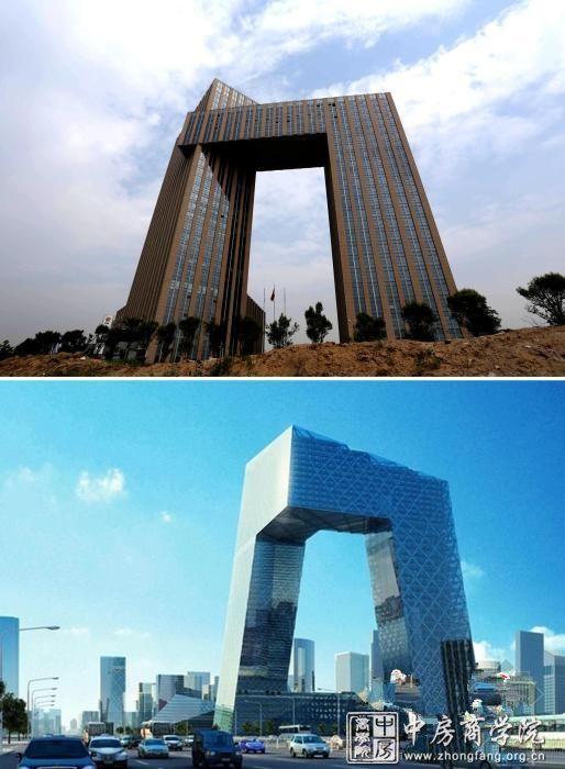 地上28层(左楼),23层(右楼),左右楼通过20层至23层钢结构连接体联系.