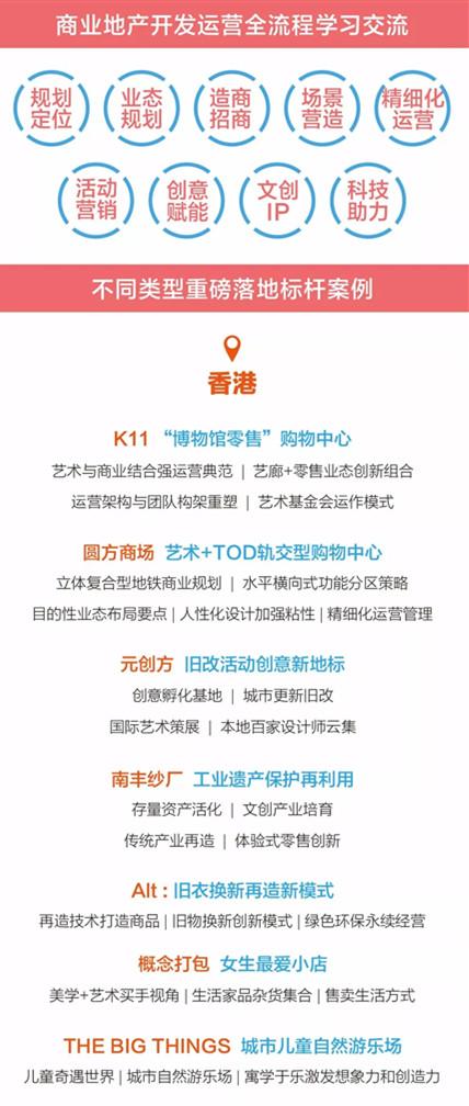 【香港/深圳】新商业运营提升与业态创新标杆案例游学(7月16-19日)